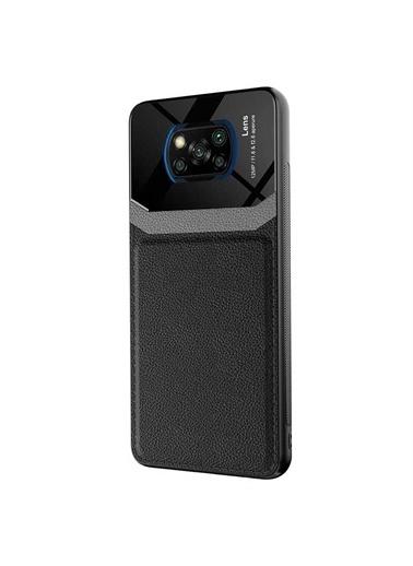 Microsonic Xiaomi Poco X3 Pro Kılıf Uniq Leather Siyah Siyah